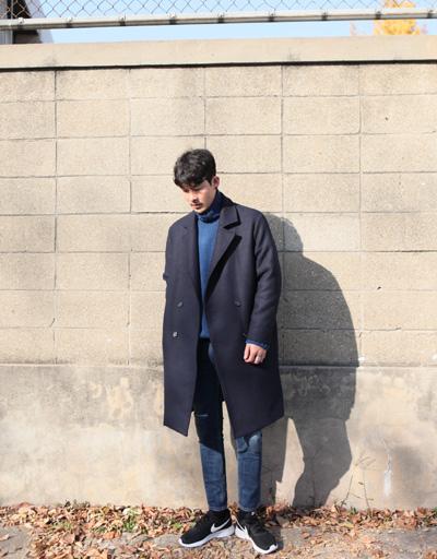 락커룸 에릭 오버핏 더블 코트
