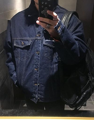 락커룸 잭슨 양털 데님자켓